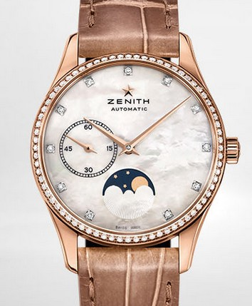 Buy Zenith Ladies' Watch HERITAGE ULTRA THIN LADY MOONPHASE 33 MM 22.2310.692/81.C709