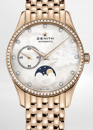 Buy Zenith Ladies' Watch HERITAGE ULTRA THIN LADY MOONPHASE 33 MM 22.2310.692/81.M2310