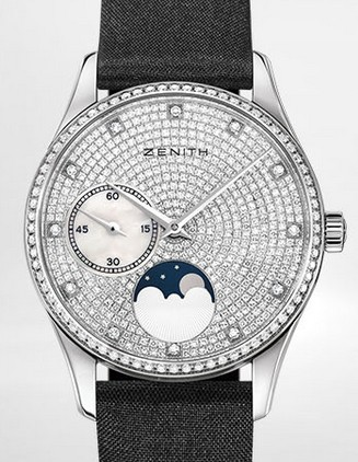 Buy Zenith Ladies' Watch HERITAGE ULTRA THIN LADY MOONPHASE 33 MM 45.2310.692/09.C717