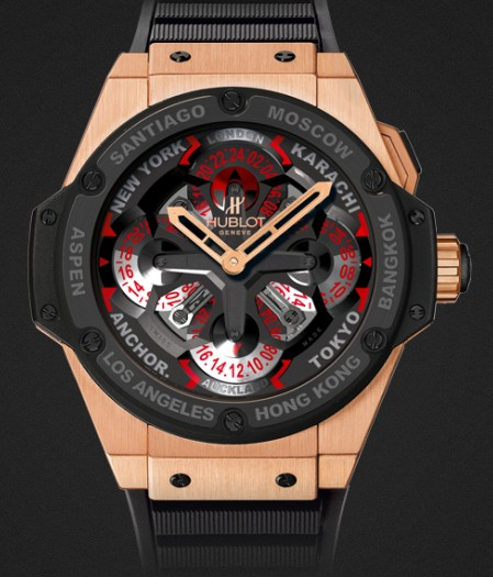 Hublot watch King Power Unico GMT King Gold Ceramic 48mm 771.OM.1170.RX