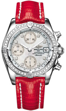 Breitling Chrono Cockpit Stainless Steel Diamonds A1335853/A578-lizard-red-tang watch price