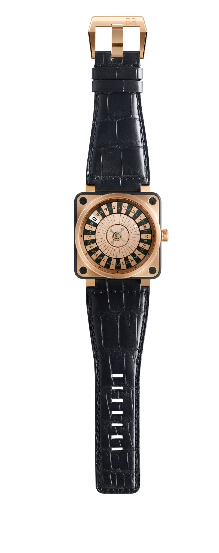 Buy Bell & Ross BR 01 Casino Only 2011 Pink Gold and Black PVD Steel replica watch