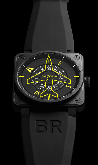 Buy Bell & Ross BR 01 Heading Indicator Black PVD Steel BR0192 HEADING replica watch