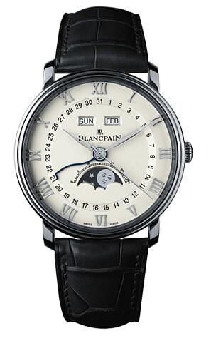 Replica Blancpain Villeret Moon Phase Complete Calendar 6654-1127-55B Watch