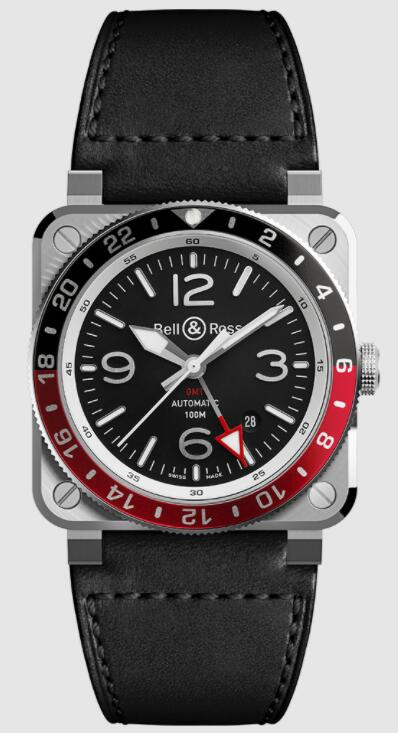 Buy Bell & Ross BR 03-93 GMT BR0393-BL-ST/SCA Replica watch