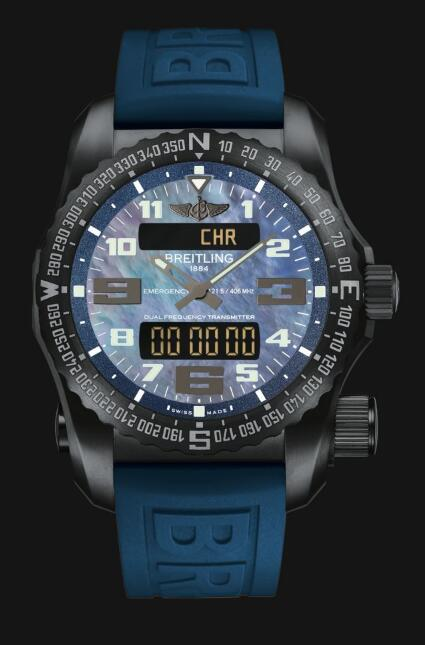 Review Cheap Breitling Professional Emergency Night Mission New Blue V7632519|C931|260S|V20DSA.2 Men watch