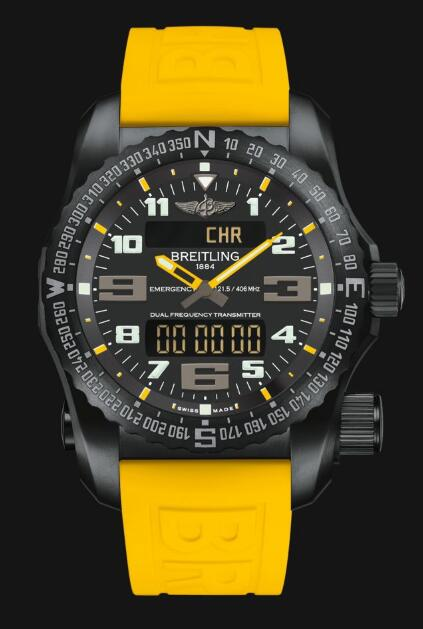 Review Cheap Breitling Professional Emergency Night Mission New Blue V76325A4|BC46|246S|V20DSA.2 Men watch