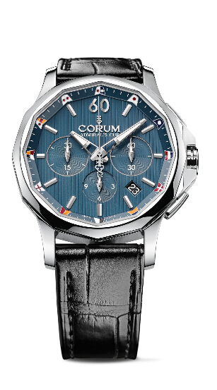 Fashion Swiss Corum Admiral's Cup Legend 42 Chronograph Steel 2015 replica watch REF: A98 4/02629 - 98 4.101.20/0F01 AB20 Review