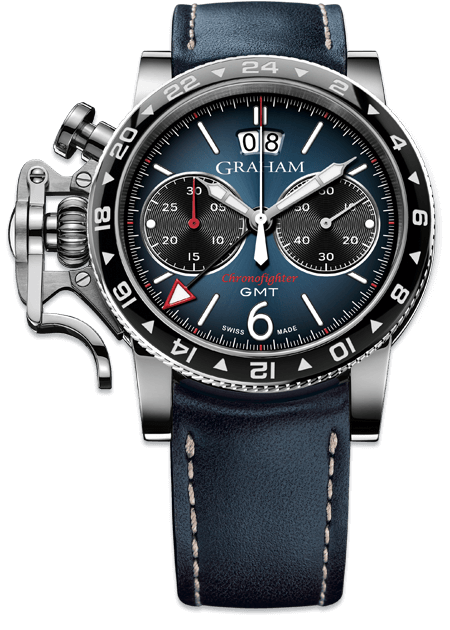 Shopping GRAHAM LONDON Chronofighter Vintage GMT Blue 2CVBC.U02A NEW replica watch