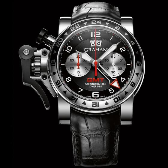 Shopping GRAHAM LONDON 20VGS.B39A CHRONOFIGHTER OVERSIZE GMT BLACK STEEL replica watch