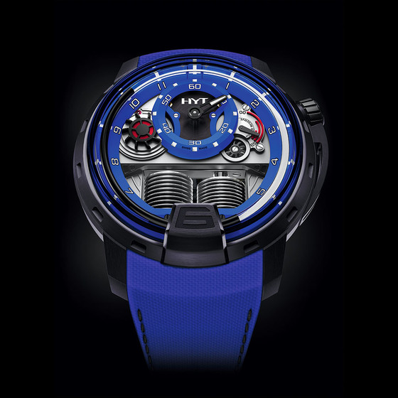 Buy Replica HYT H1 COLORBLOCK BLUE Men 148-TT-80-NF-FB watch