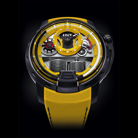 Buy Replica HYT H1 COLORBLOCK YELLOW Men 148-TT-80-NF-FY watch