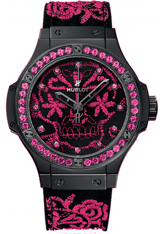 Replica Hublot Big Bang Broderie Sugar Skull Fluo Hot Pink 343.CP.6590.NR.1233 watch price