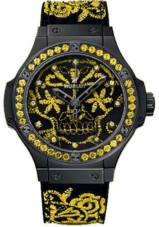 Replica Hublot Big Bang Broderie Sugar Skull Fluo Sunflower 343.CY.6590.NR.1211 watch price