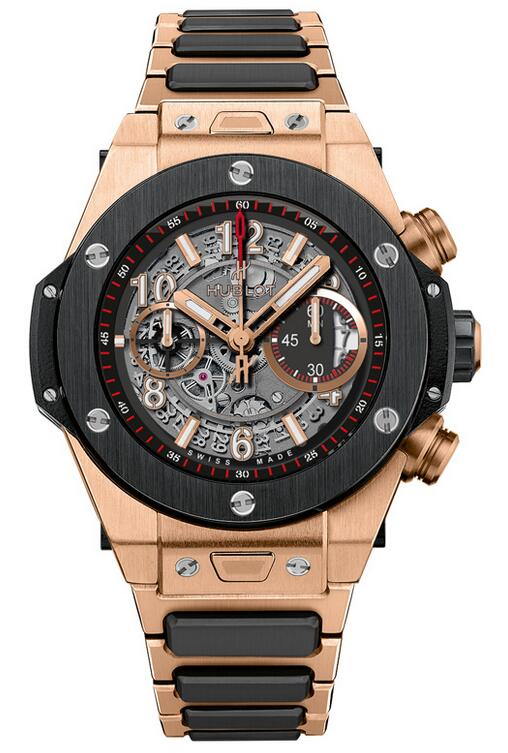 Best Hublot Big Bang Unico King Gold Ceramic Bracelet 411.OM.1180.OM copy watch