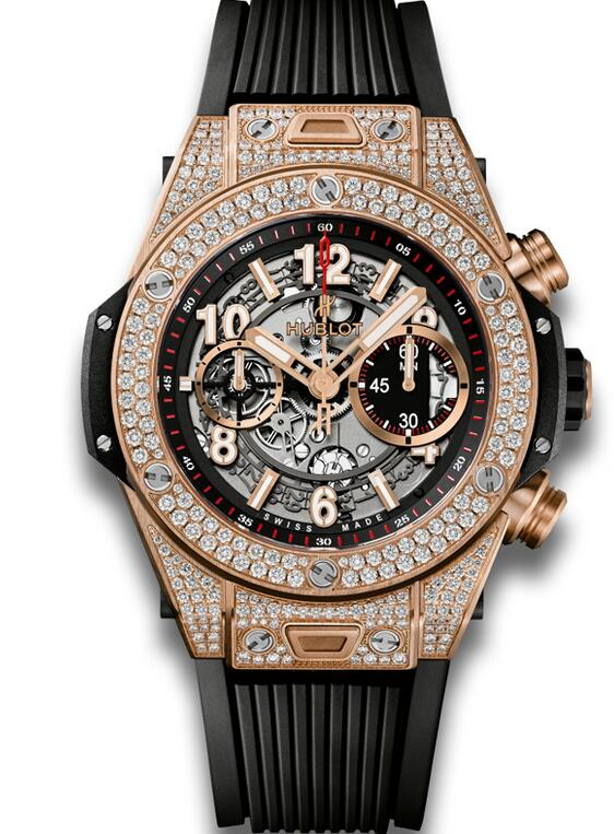 Best Hublot Big Bang Unico King Gold Pave 411.OX.11180.RX.1704 copy watch