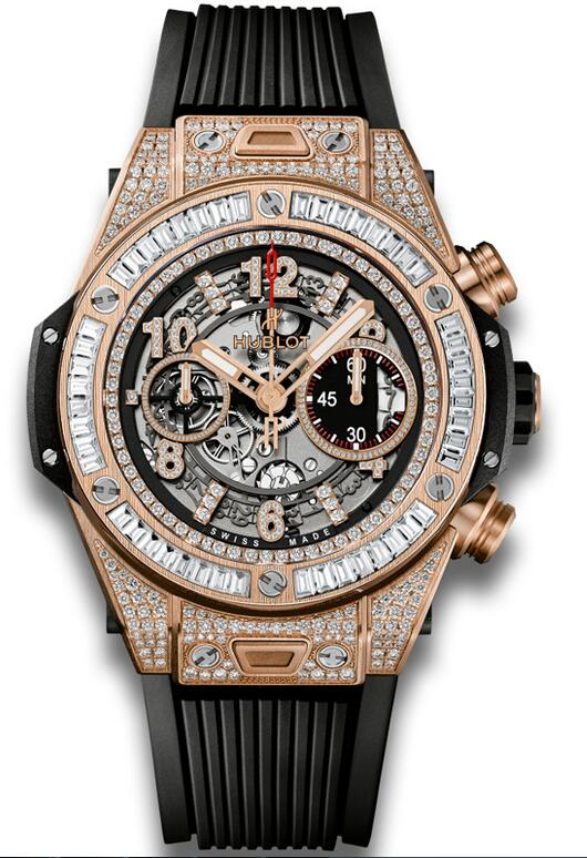 Best Hublot Big Bang Unico King Gold Jewellery 411.OX.1180.RX.0904 copy watch