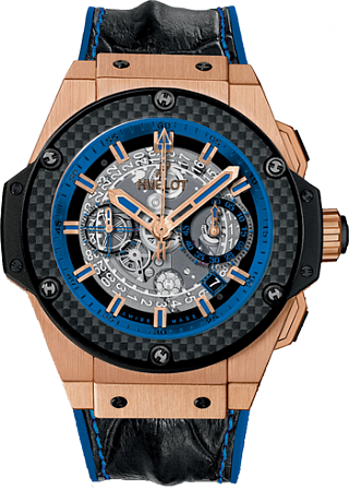 Cheap Hublot King Power Unico Gold and Blue 701.OQ.0119.HR watch