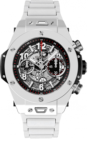 Shop Hublot Big Bang King Unico White Ceramic Bracelet Copy watch 411.HX.1170.HX