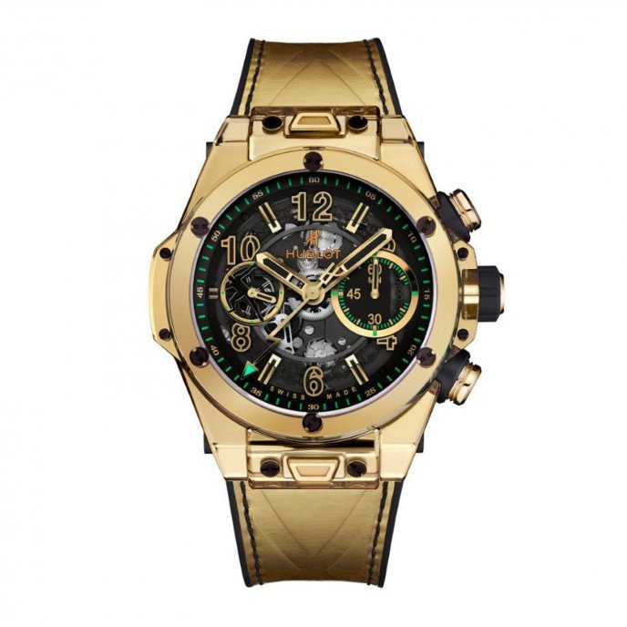 Replica Hublot Big Bang Unico Shiny Gold Sapphire Usain Bolt 411.JV.1189.VR.USB17 watch price