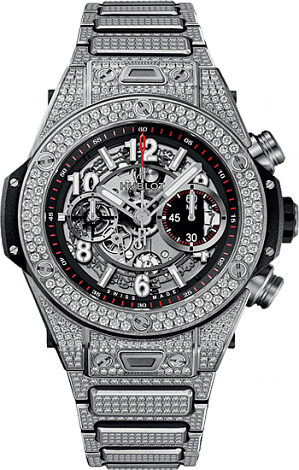 Shop Hublot Big Bang King Unico Titanium Pave Bracelet Copy watch 411.NX.1170.NX.3704