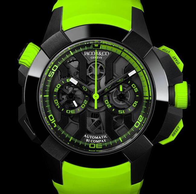 Best Jacob & Co EPIC X CHRONO BLACK TITANIUM GREEN EC311.21.SB.BG.C Replica watch