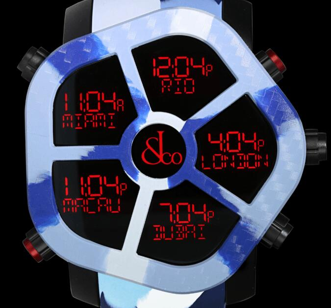 Jacob & Co GHOST CARBON CAMOUFLAGE BLUE GH100.11.NS.PC.ANP4D Replica watch