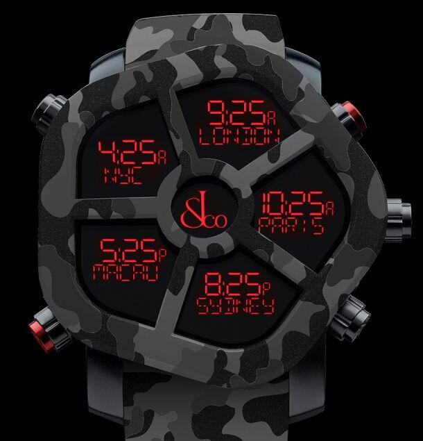 Jacob & Co GHOST CARBON CAMOUFLAGE BLACK GH100.11.NS.PC.ANR4D Replica watch