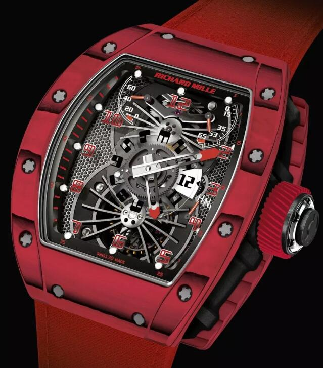 Buy Replica Richard Mille RM 022 watch RM 022 Tourbillon Aerodyne Dual Time Red Limited Edition For Sale