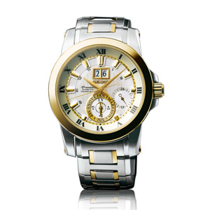 Shopping Seiko Premier Kinetic Perpetual 7D56 Men copy watch SNP094P1 for sale