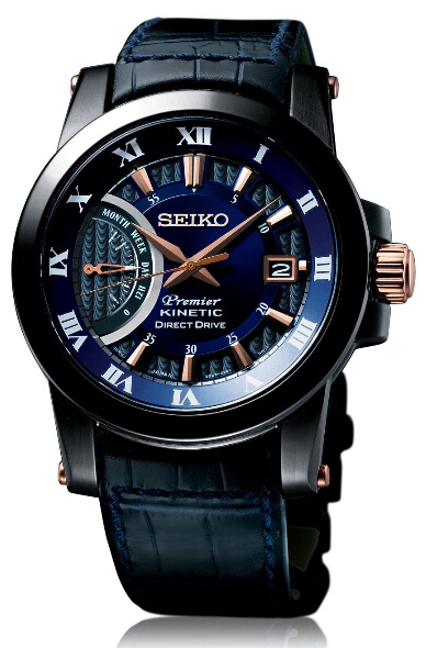 Shopping Seiko Premier Kinetic Direct Drive 5D22 Men copy watch SRG012 for sale