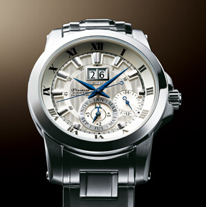 Shopping Seiko Premier Kinetic Perpetual 7D56 Men copy watch SNP091P1 for sale