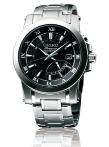 Shopping Seiko Premier Kinetic with Retrograde Day Indicator 5M84 Men copy watch SRN039P1 for sale
