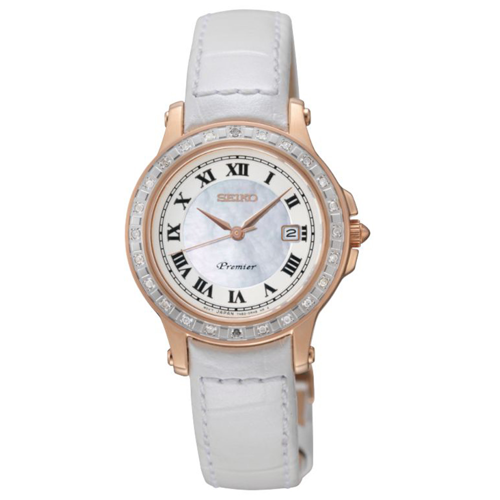Shopping Seiko Premier Date Calendar 7N82 Women copy watch SXDF08P1 for sale